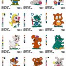 BABY ANIMALS (1) - 14 EMBROIDERY DESIGNS