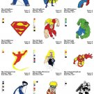 SUPER HEROES (1) - 19 EMBROIDERY DESIGNS