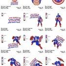 CAPTAIN AMERICA (1) - 12 EMBROIDERY DESIGNS