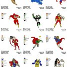 SUPER HEROES (2) - 12 EMBROIDERY DESIGNS