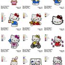 HELLO KITTY - 1 - 12 EMBROIDERY DESIGNS