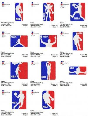 NBA LOGO (2) - 11 EMBROIDERY DESIGNS