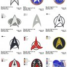 STAR TREK LOGO (2) - 12 EMBROIDERY DESIGNS