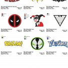 SUPER HEROES LOGO (3) - 9 Embroidery designs