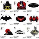 BATMAN (2) - 9 EMBROIDERY DESIGNS