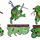 NINJA TURTLES (3) - 6 EMBROIDERY DESIGNS