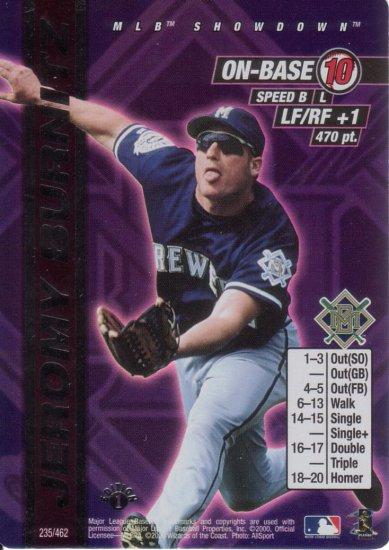 JEROMY BURNITZ 2000 MLB SHOWDOWN FIRST EDITION FOIL #235 MILWAUKEE BREWERS