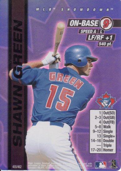 SHAWN GREEN 2000 MLB SHOWDOWN FIRST EDITION FOIL #455 TORONTO BLUE JAYS