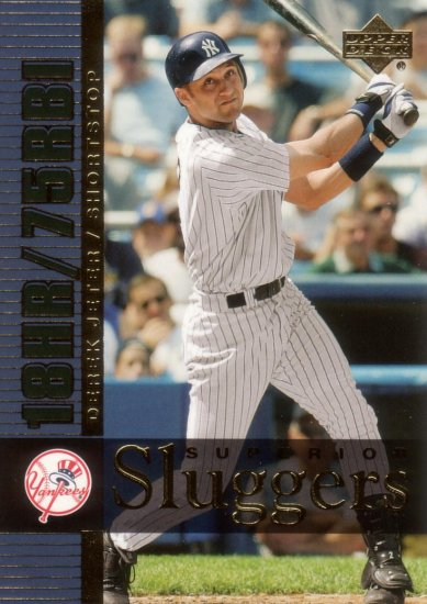 DEREK JETER 2003 SUPERIOR SLUGGERS #S8 NEW YORK YANKEES