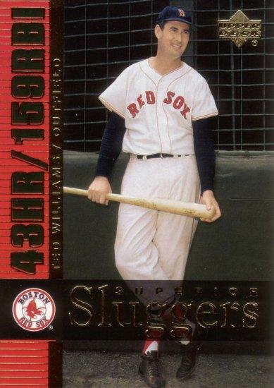 TED WILLIAMS 2003 SUPERIOR SLUGGERS #S15 BOSTON RED SOX