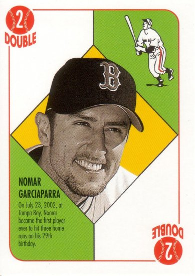 NOMAR GARCIAPARRA 2003 TOPPS BLUE BACK #BB12 BOSTON RED SOX