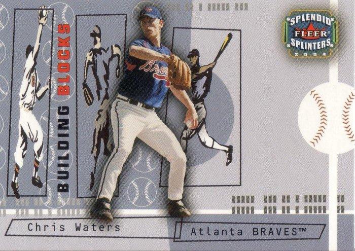 CHRIS WATERS 2003 SPLENDID SPLINTERS #114 ATLANTA BRAVES