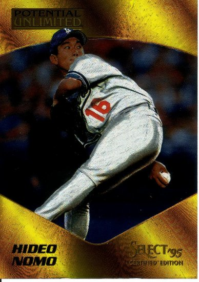 HIDEO NOMO 1995 SELECT CERTIFIED POTENTIAL UNLIMITED #10 LOS ANGELES DODGERS
