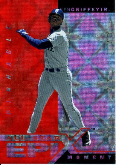 KEN GRIFFEY JR. 1998 PINNACLE ALL-STAR EPIX MOMENT #E1 ORANGE SEATTLE MARINERS