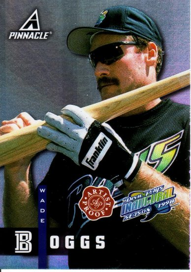 WADE BOGGS 1998 PINNACLE PLUS ARTIST PROOF #AP43 TAMPA BAY DEVIL RAYS