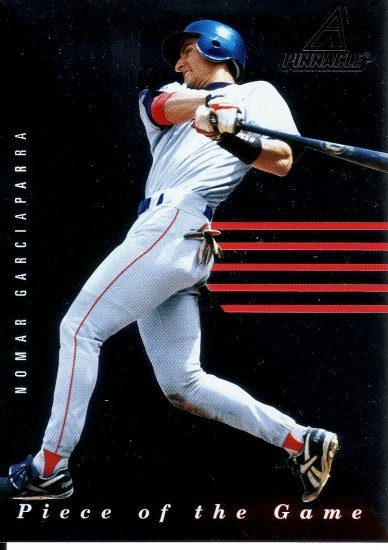 NOMAR GARCIAPARRA 1998 PINNACLE PLUS PIECE OF THE GAME #9