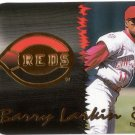 BARRY LARKIN / DEION SANDERS 1998 CROWN COLLECTION TEAM CHECKLIST #17 DIE-CUT CINCINNATI REDS