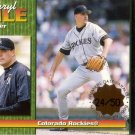 DARRYL KILE 1999 OMEGA PREMIER DATE GOLD #84 SP# 24/50 COLORADO ROCKIES