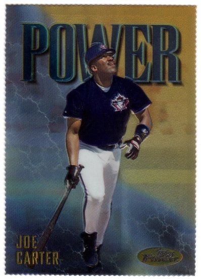 JOE CARTER 1997 FINEST EMBOSSED GOLD #338 DIE-CUT TORONTO BLUE JAYS