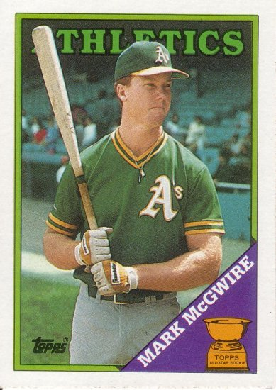 MARK McGWIRE 1988 TOPPS #580 OAKLAND ATHLETICS