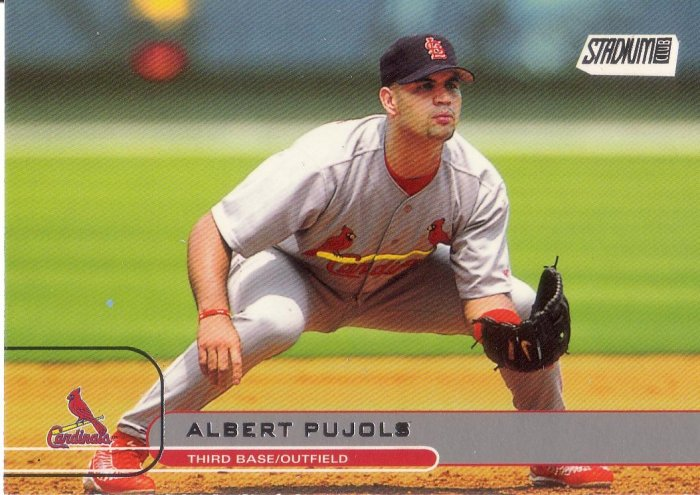 ALBERT PUJOLS 2002 STADIUM CLUB #5 ST. LOUIS CARDINALS
