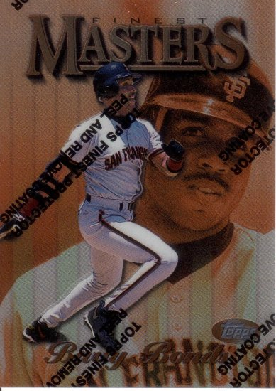 BARRY BONDS 1997 FINEST #1 PROTECTOR SAN FRANCISCO GIANTS