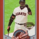 BARRY BONDS 2001 FAN CLUB BASEBALL'S BEST #202 GLOSSY SAN FRANCISCO GIANTS