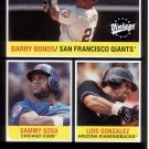 BARRY BONDS / SAMMY SOSA / LUIS GONZALEZ 2002 VINTAGE #274 GIANTS / CUBS / DIAMONDBACKS