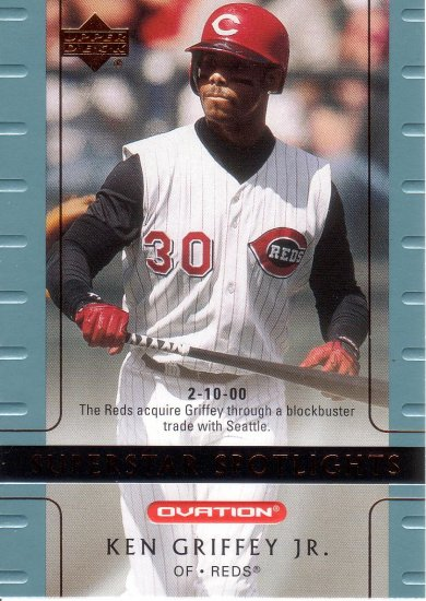 KEN GRIFFEY JR. 2002 OVATION #97 CINCINNATI REDS