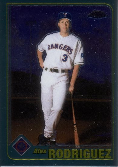 ALEX RODRIGUEZ 2001 TOPPS CHROME #587 TEXAS RANGERS