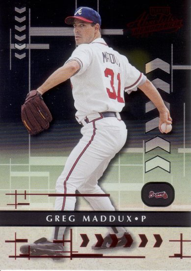 GREG MADDUX 2001 ABSOLUTE MEMORABILIA #8 ATLANTA BRAVES