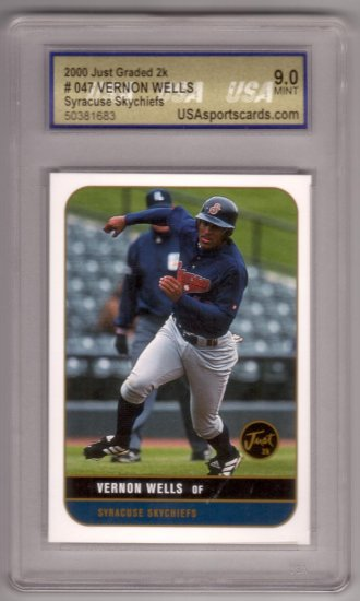 VERNON WELLS 2000 JUST GRADED 2K #047 ROOKIE USA 9.0 MT SYRACUSE SKYCHIEFS