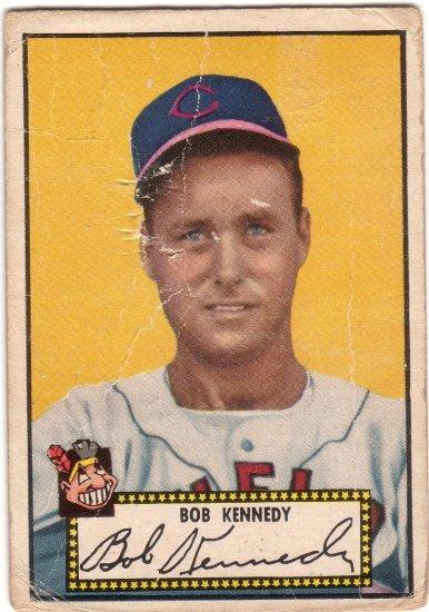 BOB KENNEDY 1952 TOPPS BLACK BACK #77A CLEVELAND INDIANS