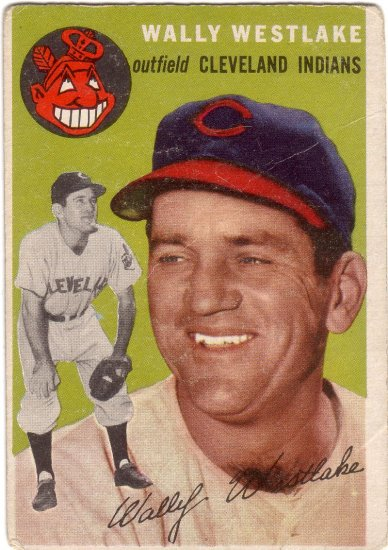 WALLY WESTLAKE 1954 TOPPS #92 CLEVELAND INDIANS