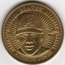 ANDRUW JONES 1998 PINNACLE MINT BRASS COIN #29 ATLANTA BRAVES