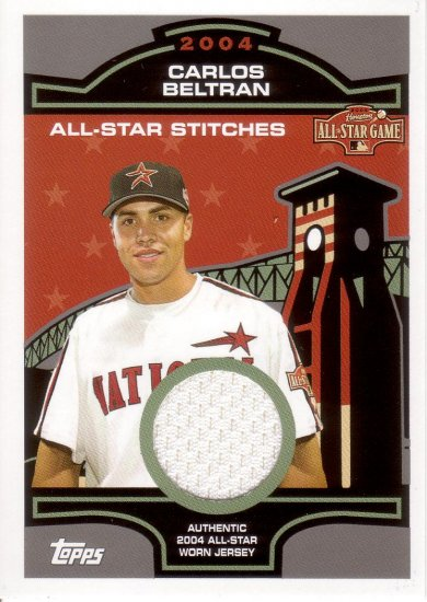 CARLOS BELTRAN 2005 TOPPS ALL-STAR STICHES RELICS #CB NATIONAL LEAGUE HOUSTON ASTROS