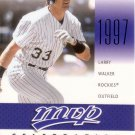 LARRY WALKER 2003 MVP MVP CELEBRATION #MVP21 SP#1356/1997 COLORADO ROCKIES