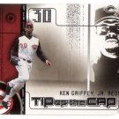 KEN GRIFFEY JR. 2002 GENUINE TIP OF THE CAP #TC 19 DIE-CUT CINCINNATI REDS