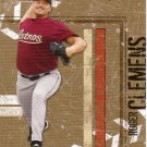 ROGER CLEMENS 2004 LEAF LEATHER & LUMBER #63 HOUSTON ASTROS