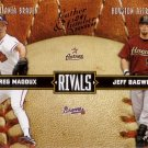 GREG MADDUX / JEFF BAGWELL 2004 LEAF RIVALS #18 BRAVES / ASTROS