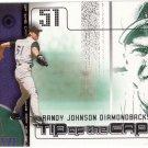 RANDY JOHNSON 2002 GENUINE TIP OF THE CAP #16 DIE-CUT ARIZONA DIAMONDBACKS