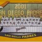 SAN DIEGO PADRES 2002 TOPPS CHROME #664 GOLD REFRACTOR