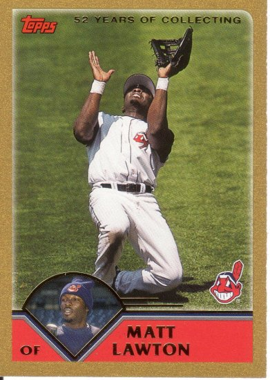 MATT LAWTON 2003 TOPPS GOLD #234 SP# 1120/2003 CLEVELAND INDIANS