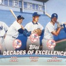 NEW YORK YANKEES 2001 TOPPS COMBOS #TC1 JETER, BERRA, FORD, MATTINGLY, JACKSON