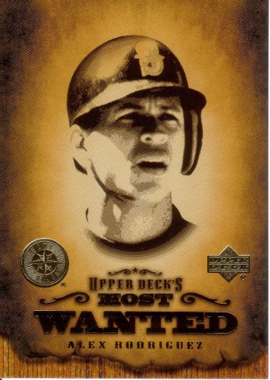 ALEX RODRIGUEZ 2001 UPPER DECK MOST WANTED #MW11 SEATTLE MARINERS