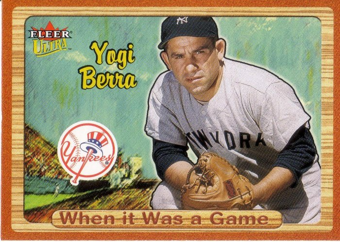YOGI BERRA 2003 ULTRA WHEN IT WAS A GAME #7 NEW YORK YANKEES
