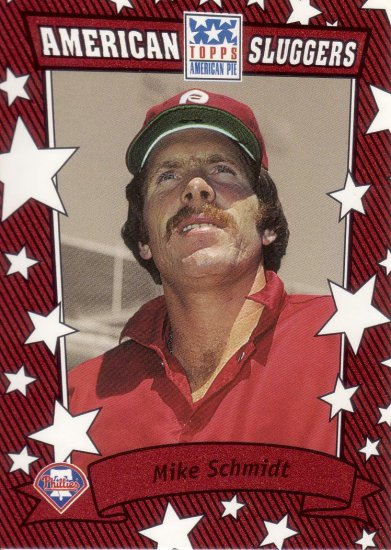 MIKE SCHMIDT 2002 TOPPS AMERICAN PIE SLUGGERS RED #3 PHILADELPHIA PHILLIES