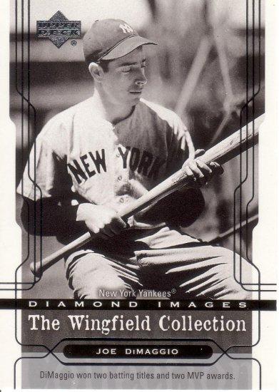 JOE DiMAGGIO 2005 UPPER DECK WINGFIELD COLLECTION #3 NEW YORK YANKEES