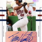 TORII HUNTER 2004 DONRUSS WORLD SERIES SIGNATURES #107 SP#24/25 MINNESOTA TWINS