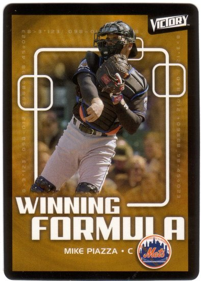 MIKE PIAZZA 2003 VICTORY #200 NEW YORK METS